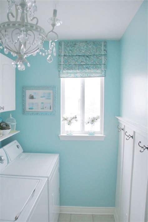 sherwin williams swimming blue  white laundry room