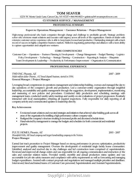 Company Resume by Print Project Manager For Construction Company Resume