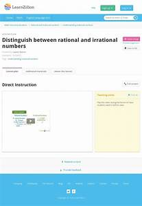 Use Properties Of Rational And Irrational Numbers  High