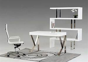 Contemporary White Lacquer Desk Vg153 Desk White Modern Desk Plan Ideas