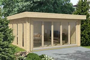 Gartenhaus mit flachdach gunstig kaufen 0eur versandkosten for Garten planen mit pflanzkübel kunststoff eckig