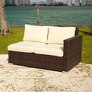 source outdoor lucaya wicker 3 piece sectional sofa set With cadence wicker 3 piece outdoor sectional sofa set