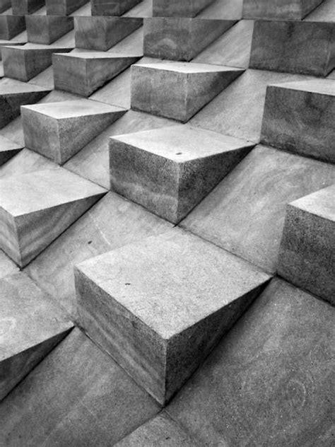 london uk black  white shapes concrete