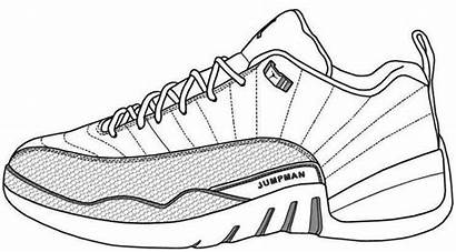 Coloring Jordan Shoes Pages Shoe Air Drawing