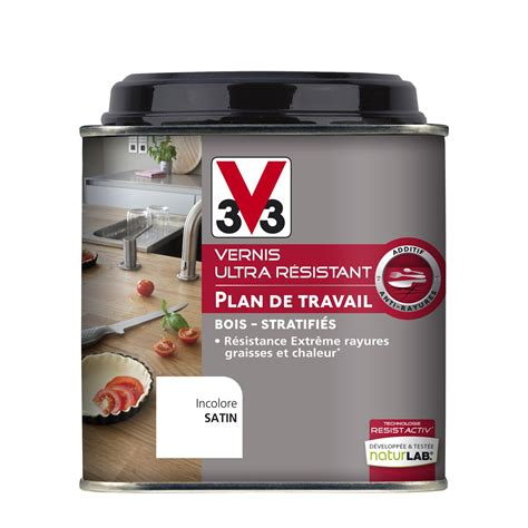 protection plan de travail cuisine vernis plan de travail resist activ v33 0 5 l incolore