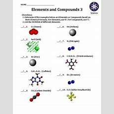 Worksheet Elements And Compounds 3 By Travis Terry Tpt