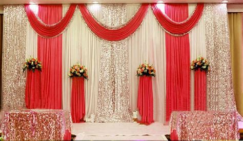 xft pleated wedding backdrop curtain background decor