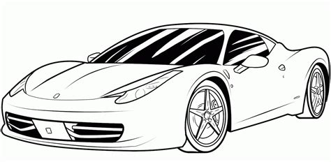 Coloring Car by Sports Car Coloring Pages Free And Printable