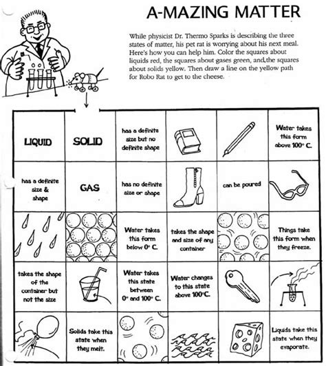 three states of matter worksheet answers three states of matter worksheet worksheets for all