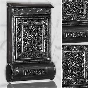 Briefkasten Holz Antik : briefkasten versandshop briefkasten antik alu sandguss schwarz silber wandbriefk sten im ~ Sanjose-hotels-ca.com Haus und Dekorationen