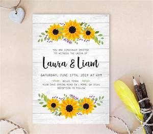 16 sunflower wedding invitations perfect for fall weddings With inexpensive sunflower wedding invitations