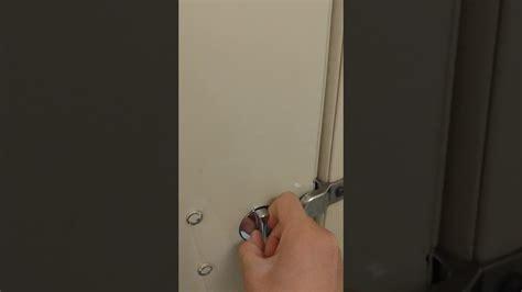 bathroom stall lock youtube