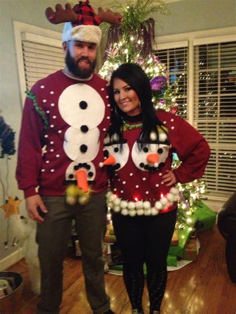 couples tacky christmas sweaters holidays christmas