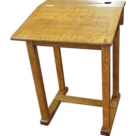 Vintage School Desk Top by Vintage Oak School Desk Converts From Flat To Slant Top