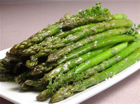 roasted asparagus roasted asparagus with garlic and fresh thyme recipe food com