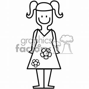 black and white young girl   Clipart Panda - Free Clipart ...