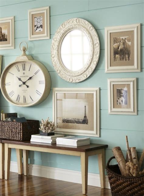 Arrangement with Large Wall Clock