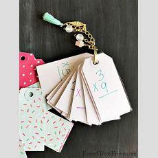 Math Diy Flash Cards Made From Hang Tags  Reuse Grow Enjoy