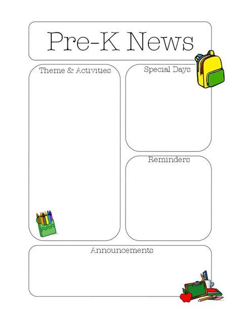 22 best newsletter templates images on 884 | e1033fa607d6d11fc98ff68088c3b78a teacher newsletter templates preschool newsletter