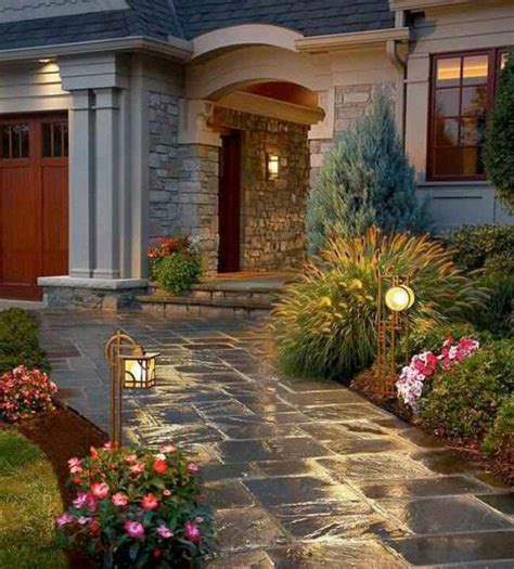 front entrance pathways pretty walkway for the home pinterest