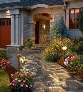 pretty walkway for the home pinterest With outdoor lighting ideas for side of house
