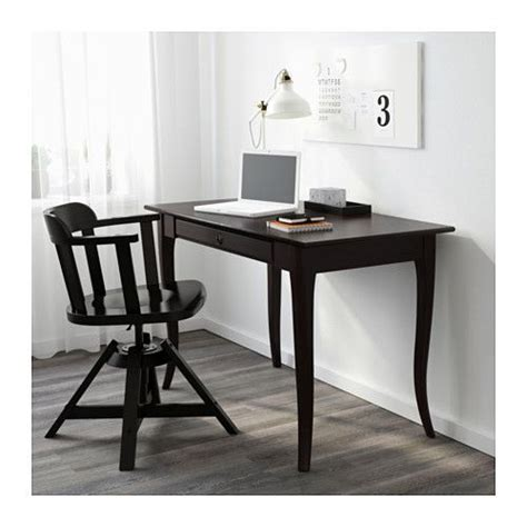 ikea le schwarz leksvik desk ikea solid wood is a durable material drawer stops prevent the drawer from