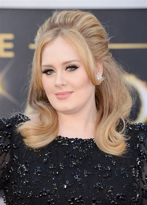 adele hair style classic beauty   red carpet