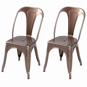 Chaise Industrielle Metal : chaise indus cuivre lot de 2 d couvrez nos chaises indus cuivre lot de 2 rdv d co ~ Teatrodelosmanantiales.com Idées de Décoration