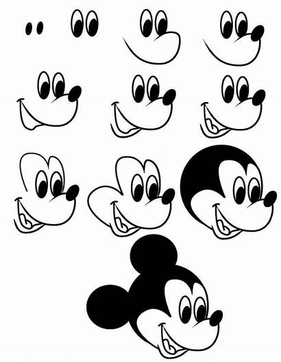 Draw Mouse Mickey Disney Drawing Steps Easy