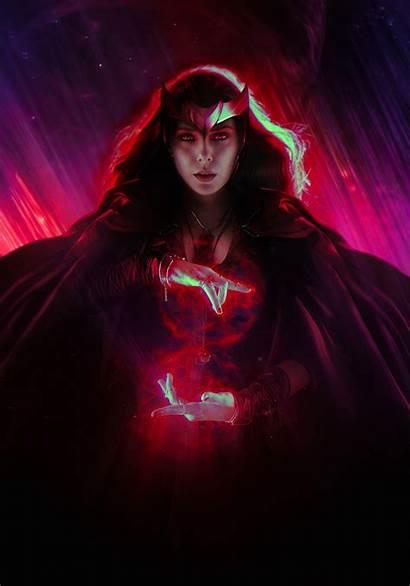 Wanda Wandavision Maximoff Vision Wallpapers Witch Scarlet