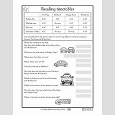 3rd Grade Math Worksheets Reading Timetables Greatschools