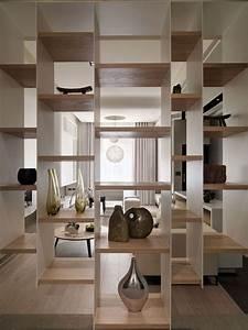 étagère Séparation De Pièce : id es pour s parer des espaces dans une pi ce picslovin ~ Premium-room.com Idées de Décoration