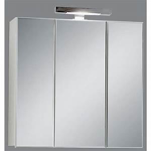 meuble haut salle de bain avec miroir With meuble salle de bain avec miroir et eclairage