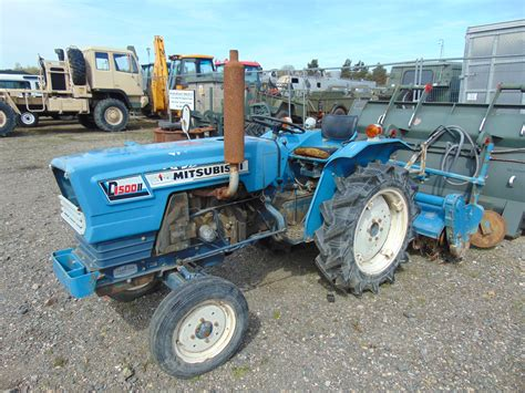 Mitsubishi Compact Tractor by You Are Bidding On A Mitsubishi D1500 Compact Tractor With