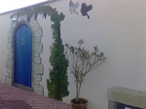 cuisine at home fresque sur mur extérieur