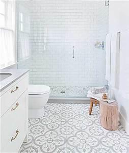 carreaux de ciment classique dans la douche italienne design With carreaux de ciment douche