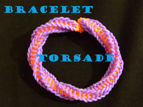 bracelet elastique torsade termine tuto francais facile