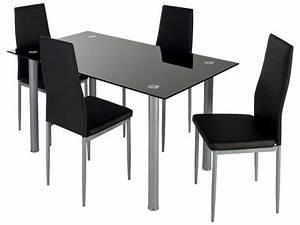 Table à Manger Noire : table cuisine noire table a manger maisonjoffrois ~ Teatrodelosmanantiales.com Idées de Décoration
