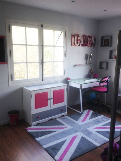chambre ado fille   london union jack masroum