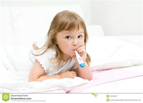 Sick Little Girl Royalty Free Stock Photography Image
