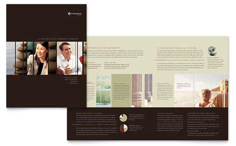 financial planner brochure template design