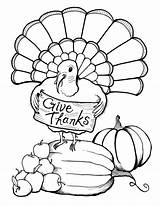 Coloring Thanksgiving Printable Turkey Happy Dinner Cards Adult sketch template