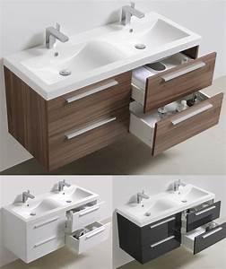Badmöbel Set Holzoptik : badm bel set doppelwaschbecken badezimmerm bel spiegel lackiert 144cm ebay ~ Watch28wear.com Haus und Dekorationen