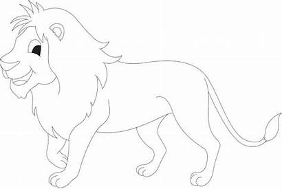 Lion Coloring Cartoon Pages Colouring Bestcoloringpages Getcoloringpages