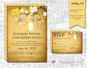 country wedding invitations and rsvp cards yellow mason With mason jar wedding invitations with rsvp cards