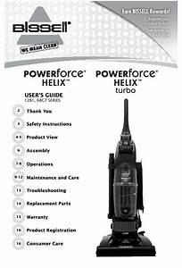 Bissell Powerforce U00ae Helix U2122 Turbo Bagless User Manual Pdf
