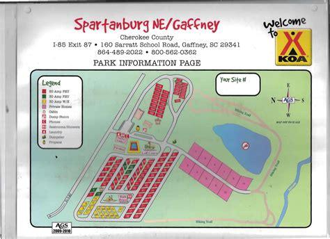 Gaffney, South Carolina Rv Camping Sites  Spartanburg Ne