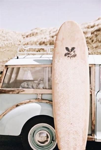 Aesthetic Surf Surfing Beach Summer Pink Surfboard
