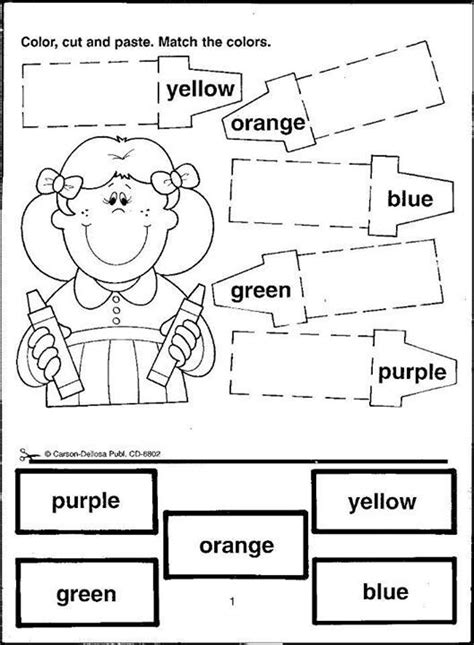 Color Cut Paste Activities - Yahoo Image Search Results