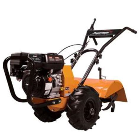 Rototiller Home Depot by Powermate 196 Cc Rear Tine Tiller